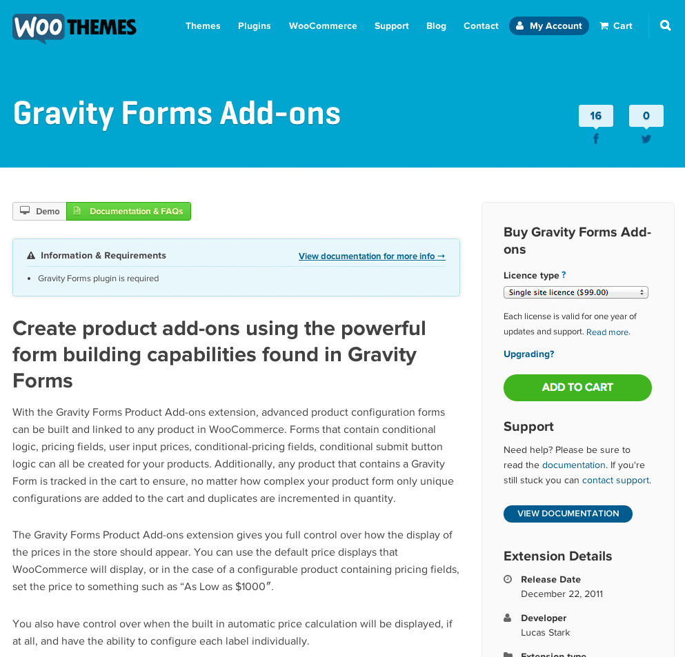 Gravity Forms Add-ons Extension